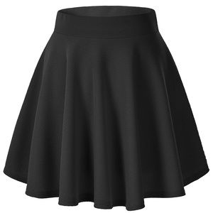 Dresses & Skirts - Versatile Stretchy Flared Casual Mini Skater Skirt